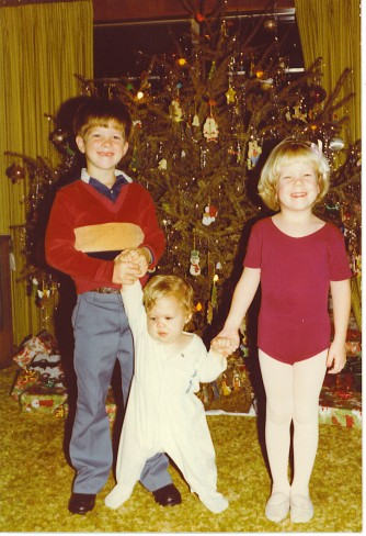 My brothers and me, age 4