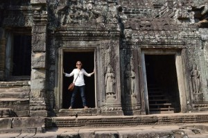 During my last hospitalization I made a promise to myself that I would recover and see the world. Adventure has truly been my biggest inspiration. This is a photo of me climbing through the temples of Angkor Wat in Cambodia.