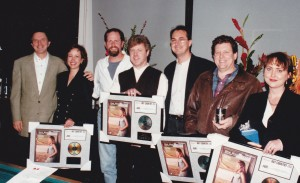 """Judy and friends accepting BMI award for """"One Way Ticket"""""""