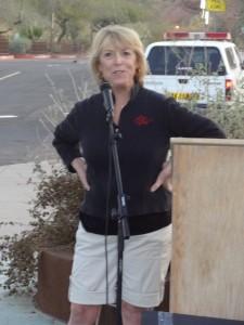 Lynn sharing words of hope at the Phoenix NEDA Walk in 2013.