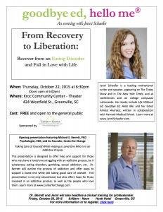 Click here to download a flier about the free Greenville, South Carolina, community event sponsored by Center for Change.
